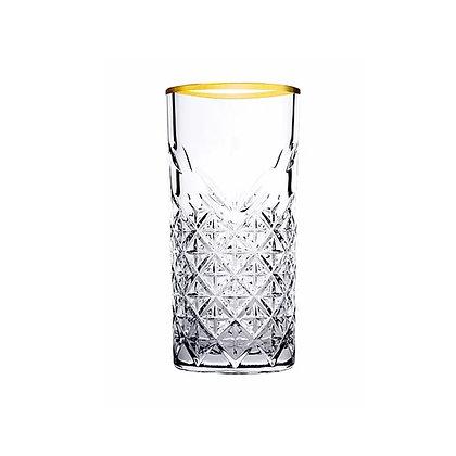 Set De 4 Vasos Largos De 15.2 oz (450 ml) Timeless Golden Pasabahce