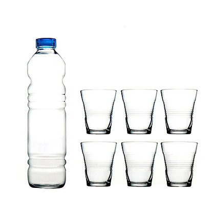 Set De 1 Botella Con Tapa y 6 Vasos Vita Pasabahce