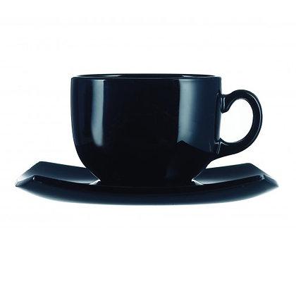 Set De 6 Ternos Para Cafe Quadratto Negro Luminarc
