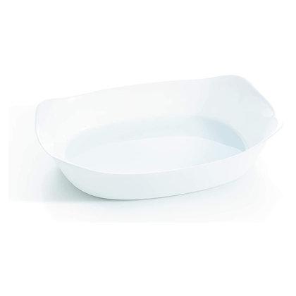 Fuente Platon Rectangular De 38 cm X 28 cm Blanco Smart Cuisine Carine