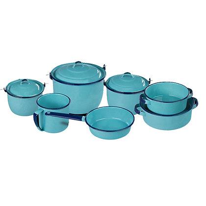 Bateria De Peltre Popular Azul Turqueza Cinsa