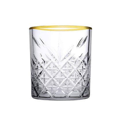 Set De 4 Vasos Old Fashion De 11.6 oz (345 ml) Timeless Golden Pasabahce