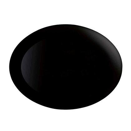 Fuente Ovalada De 25 cm X 33 cm Diwali Negro Luminarc