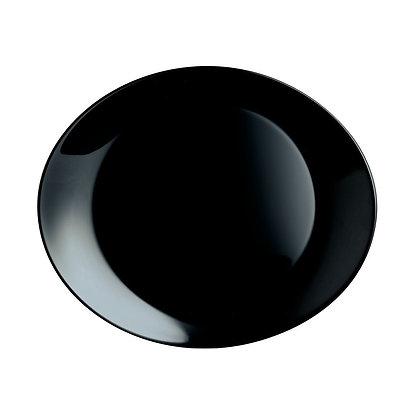 Fuente Platon Ovalado De 30 cm X 26 cm Negro Friends Time Luminarc