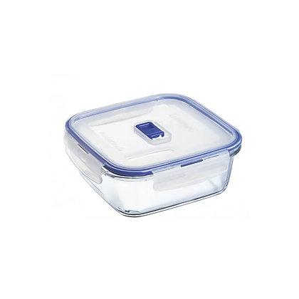 Recipiente Con Tapa Pure Box Cuadrado De 18 Cm Luminarc