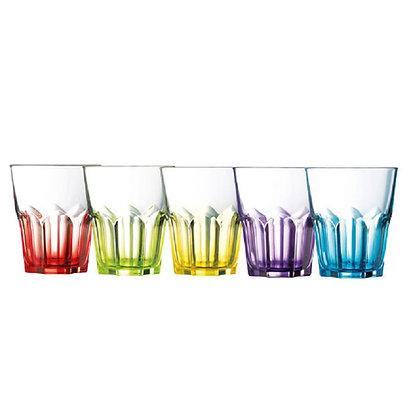 Set De 6 Vasos 13.5 oz (400 ml)  Crazy Colors Luminarc