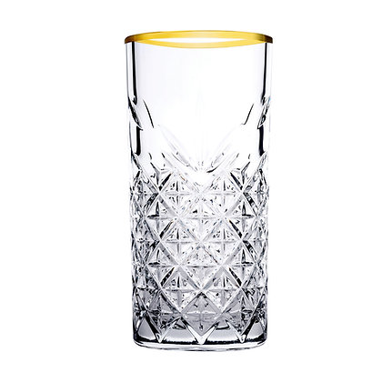 Set De 4 Vasos Largos De 10 oz (295 ml) Timeless Golden Pasabahce