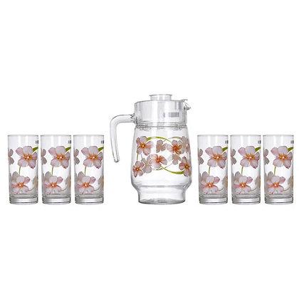 Set De 1 Jarra y 6 Vasos Sweet Impression Luminarc