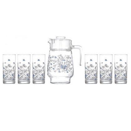 Set De 1 Jarra y 6 Vasos Romantique Luminarc