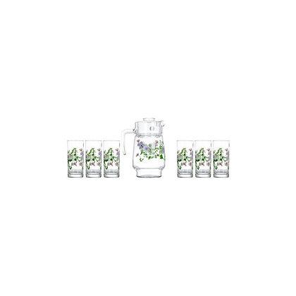 Set De 1 Jarra y 6 Vasos Mabelle Luminarc