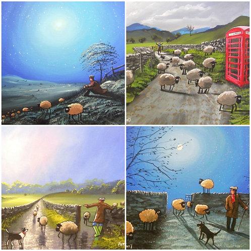 Wacky Sheep Greetings Cards 8pk
