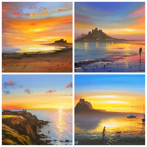 Sunsets And Sunrises  - 8 Quality Greetings Cards