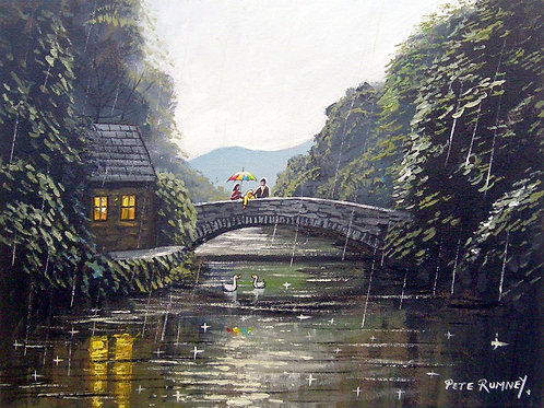 Feeding Ducks From The Bridge