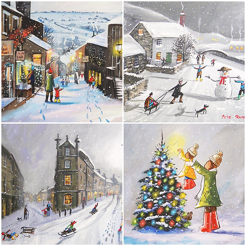 ** PREORDER Pete Rumney Art Christmas Cards PK of 8 (pack1) delivery after 25/10