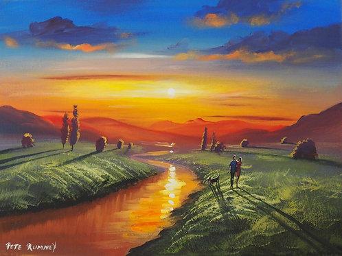 Pete Rumney Art Original Painting Valley Of The Sun