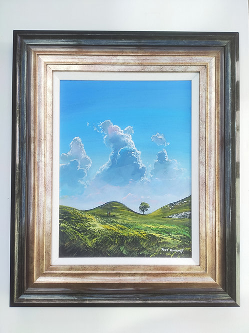 "Sycamore Gap Northumberland painting with Frame 23""x19"""