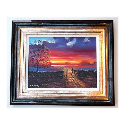 """ Walk Into Sunlight"" by Pete Rumney 23x19"" frame included"