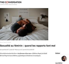 Sexualité au féminin : quand les rapport