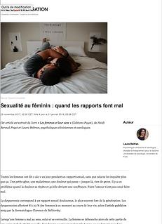 Sexualité au féminin : quand lesrapport