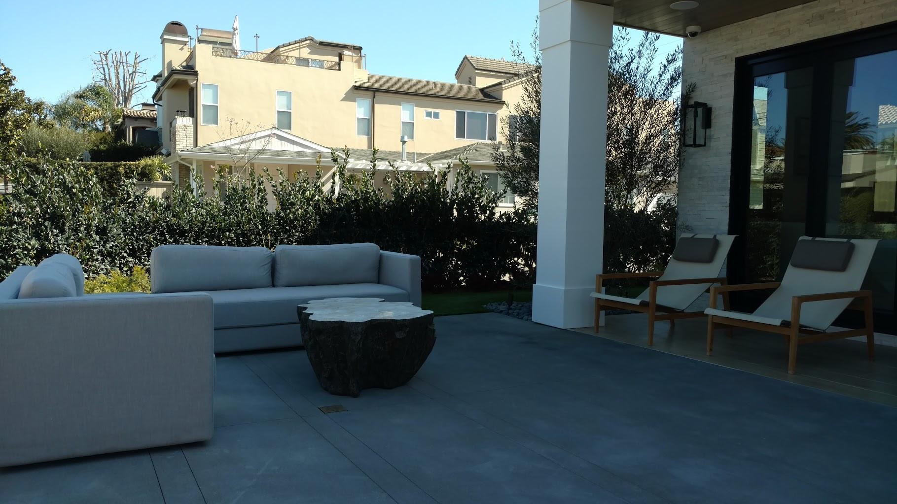 Serene front patio