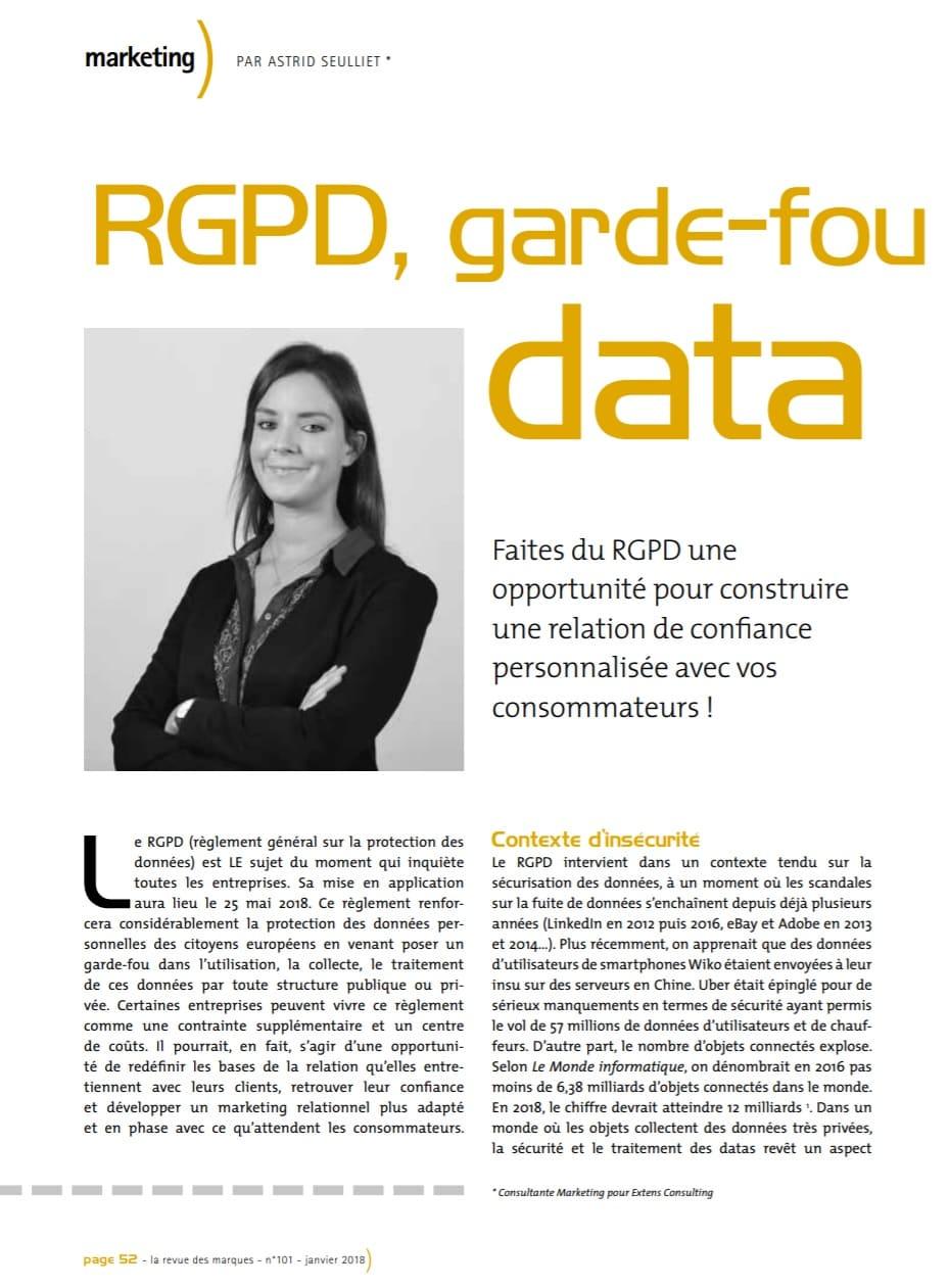Article Astrid Seulliet Revue des Marque