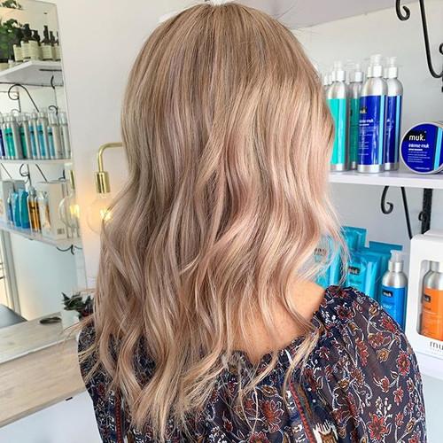 BLONDE 💫#mukhaircare #blonde #creamyblo