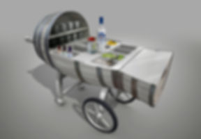 Brugal Rum Respeto daiquiri cart design