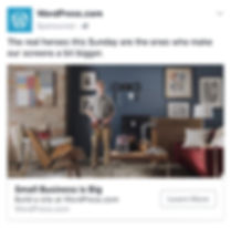 Wordpress Superbowl Facebook ad