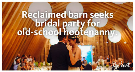 The Knot barn ad