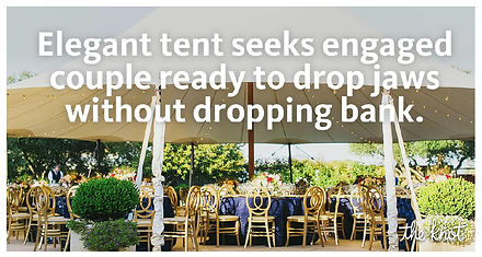 The Knot tent ad