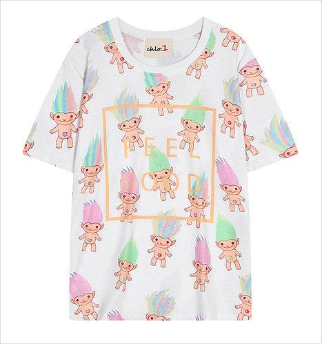 Camiseta Trolls T-Shirt Milk Hamburger WH064