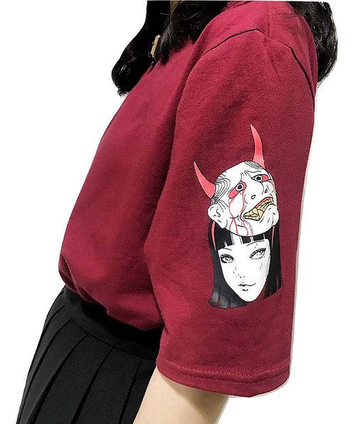 Camiseta Mascara Oni / Hannya Demon Mask T-Shirt WH032