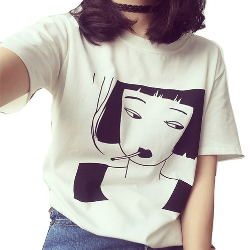 Camiseta Chica Fumando / Smoking Girl T-Shirt WH258