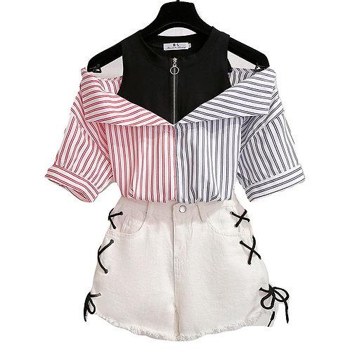 Conjunto Camisa y Pantalón / Shirt and Shorts Outfit WH409