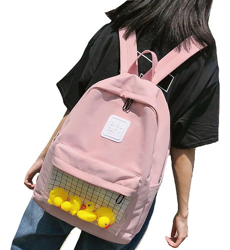 Mochila Bolsillo Transparente / Transparent Pocket Backpack WH370