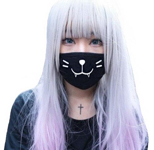 Mascarilla Gato Emoji / Kaomoji Cat Mask WH428