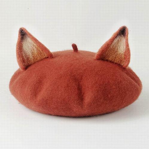 Gorro Zorro / Fox Beret Hat WH341