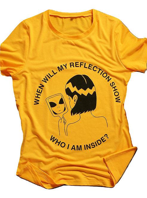 Camiseta Alien Reflejo Espejo / Alien Mirror Reflection T-Shirt WH069