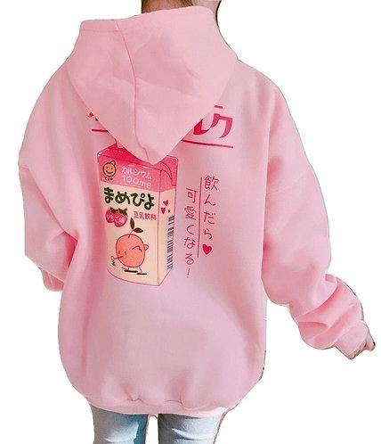 Sudadera Batido Fresa / Strawberry Juice Hoodie WH364