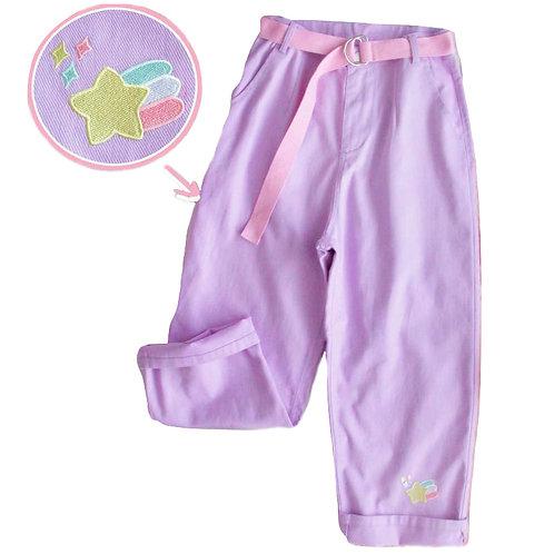 Pantalones Morado Pastel Purple Jeans WH211