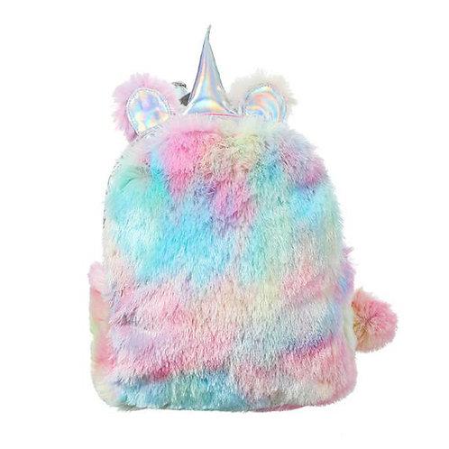 Mochila Pelo Unicornio / Unicorn Fur Backpack WH283