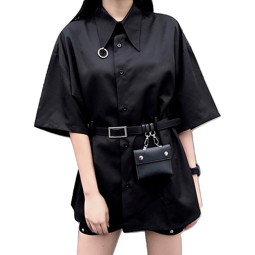 Camisa Gótica Anilla Cinturón / Gothic Shirt With Ring And Belt WH344