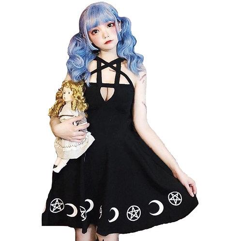 Vestido Gótico Estrella / Gothic Black Star Dress WH237