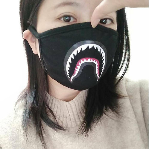 Mascarilla Tiburon Camuflaje / Shark Teeth Camouflage Facial Mask WH518