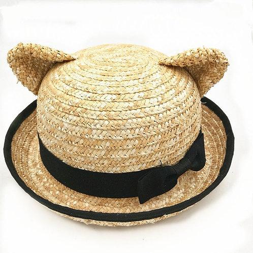 Cat Straw Hat / Gorro Paja Gato WH114