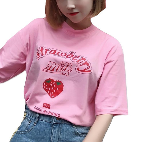Camiseta Leche Fresa / Strawberry Milk T-Shirt WH511