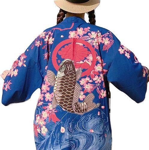 Pez Koi Fish Kimono Japan WH449