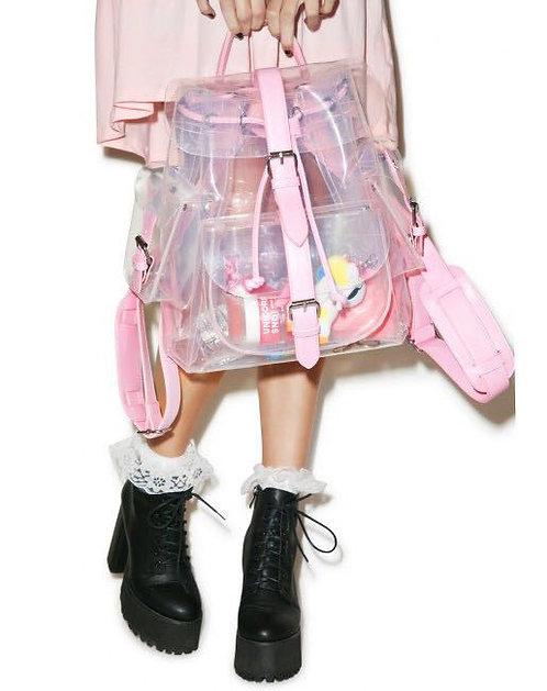Mochila Transparente / Transparent Backpack WH348