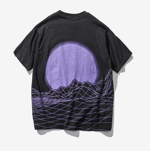 Camiseta Oversize Purple Wave T-Shirt WH396