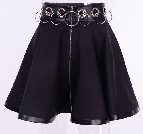 Falda Argollas Gothic Punk Rings Skirt WH107